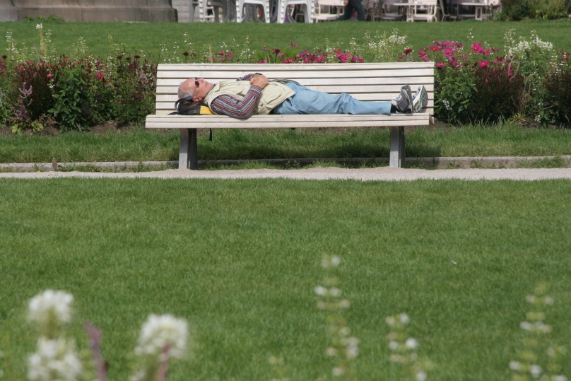 Bench napping