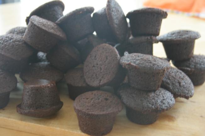Brownies in cupcake shape