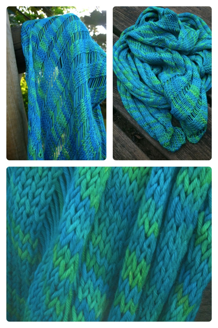 Clapotis knit in Pfefferminz Prinz