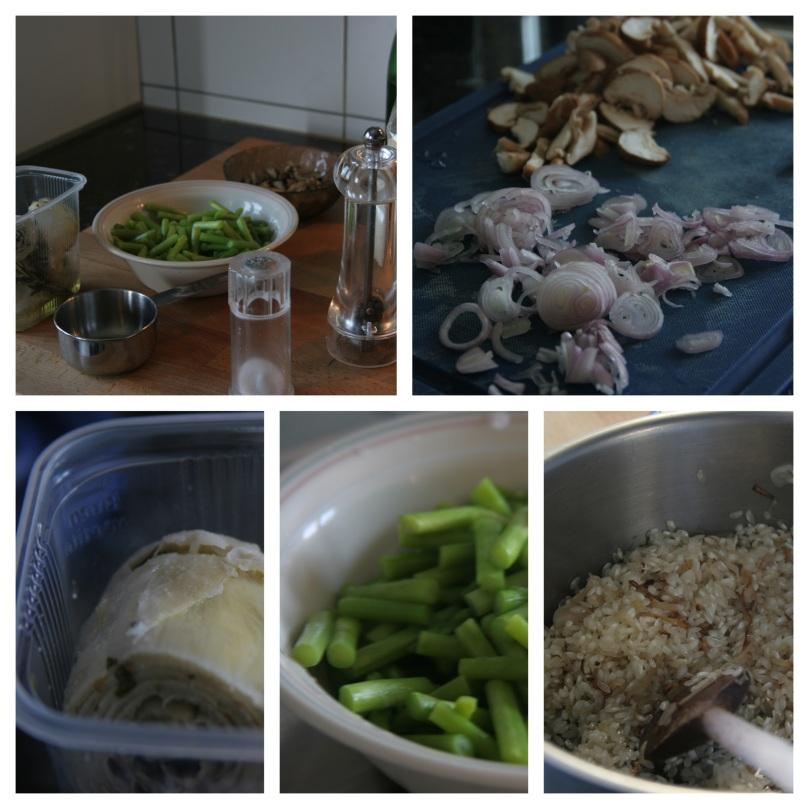 Asparagus, artichoke and mushroom risotto