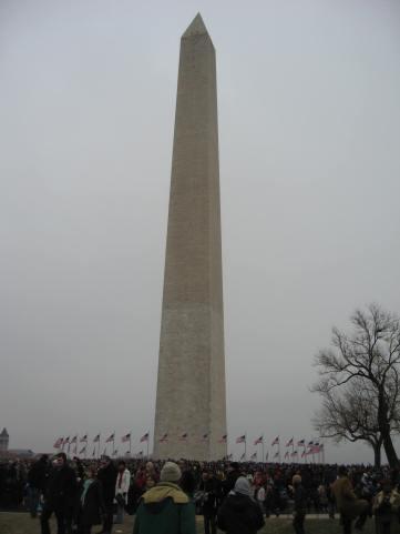 Taking advantage of the Washington monument's little hill