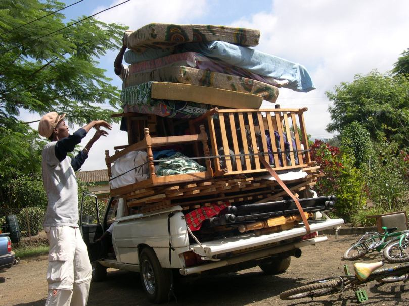 overloaded truck