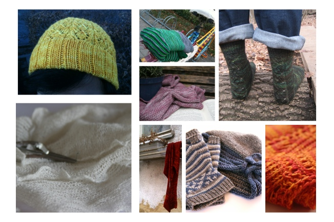 Some of the 2012 projects I knit...