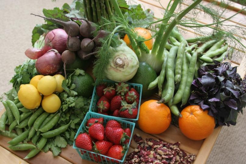 vegetables & fruit from the farmer's market