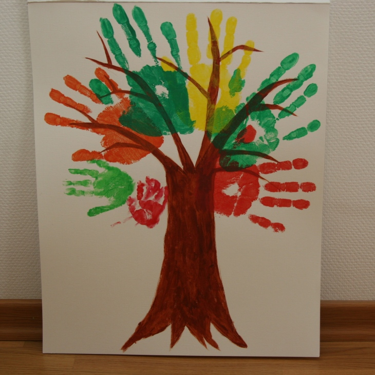 handprints hands family tree
